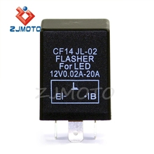 Motorcycle CF14 LED Hyper Flash Signal Light Blinker 3 Pin Electronic Car Flasher Relay