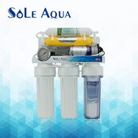 6 stages with 2.5 inch gauge reverse osmosis home water filter system