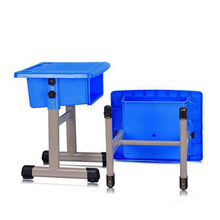 CE-passed adjustable primary student plastic school desk and chair