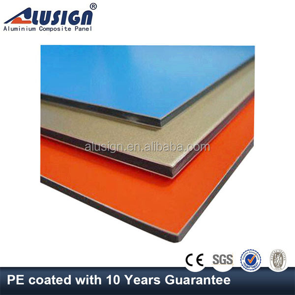 Alusign double sided coating 3mm polycarbonate sheet aluminum composite panel acp for decorative