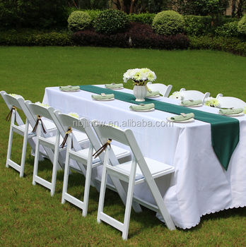 slat resin folding chair for wedding