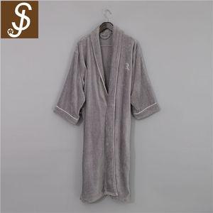 Hotel Spa Bathrobe Collection Herringbone Textured Plush Robe 0c4f6ccf0