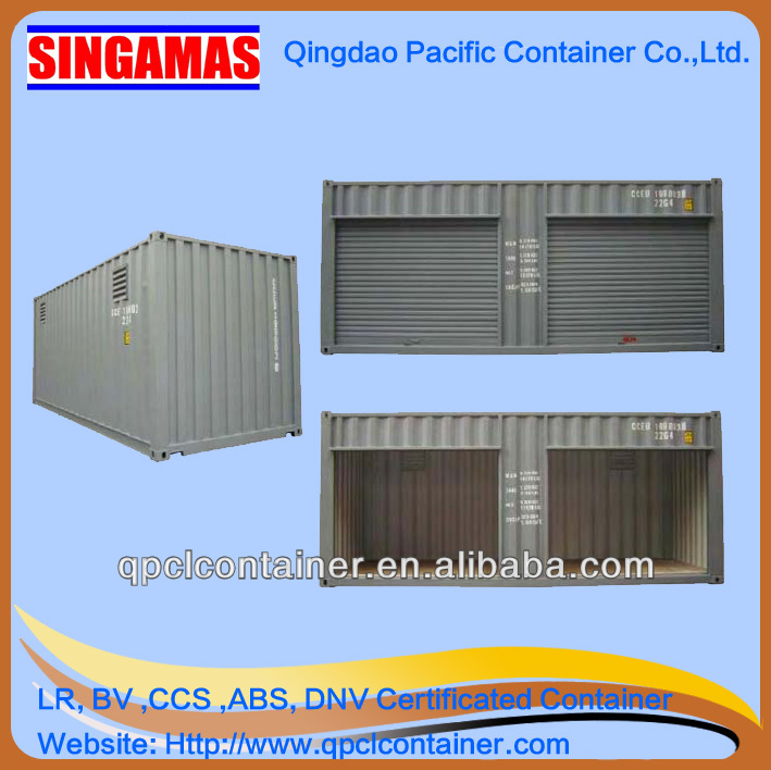 20ft roller up door side open storage container