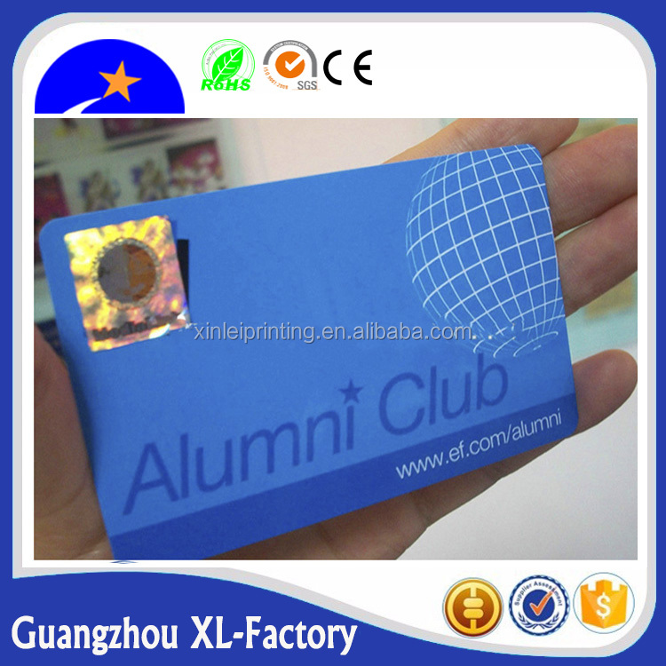Hologram Printing Plastic Identification Cards,CR80 Standard plastic pvc id card with hologram