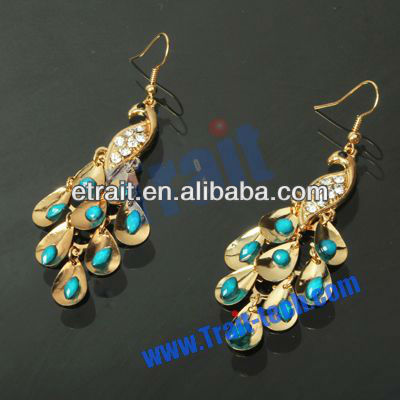 Wholesale & Dropship High Quality Crystal Peacock Earrings
