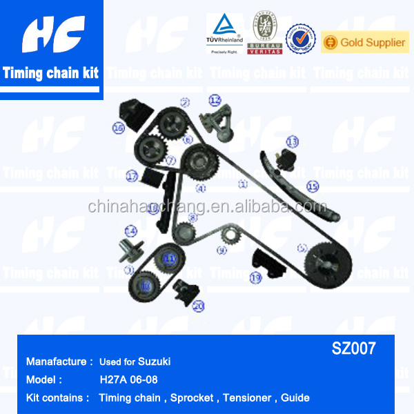 Used for Suzuki H27A Timing chain kit