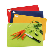 Toprank Set Of 4 Cute Vegetable Cutting Board Set Plastic Color Coding Chopping Board Plastic Chopping Board