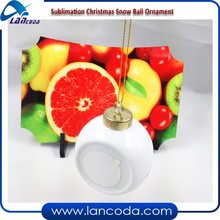 2016 sublimation Christmas Ball/Ornament/bauble