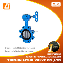 worm gear operated butterfly valve