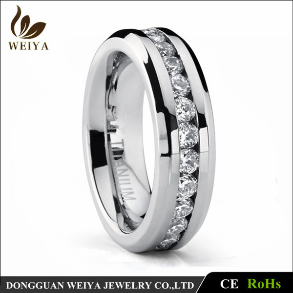 Size 5-15 Titanium Ring Men Women Wedding Stainless Steel Engagement Ring