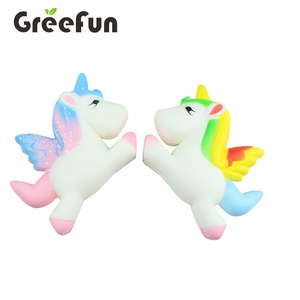 Colorful OEM Unicorn Squishy Animal Toy Anti Stress Squishy Slow Rising Gifts for Kids Wholesale Squishy Stress Toy