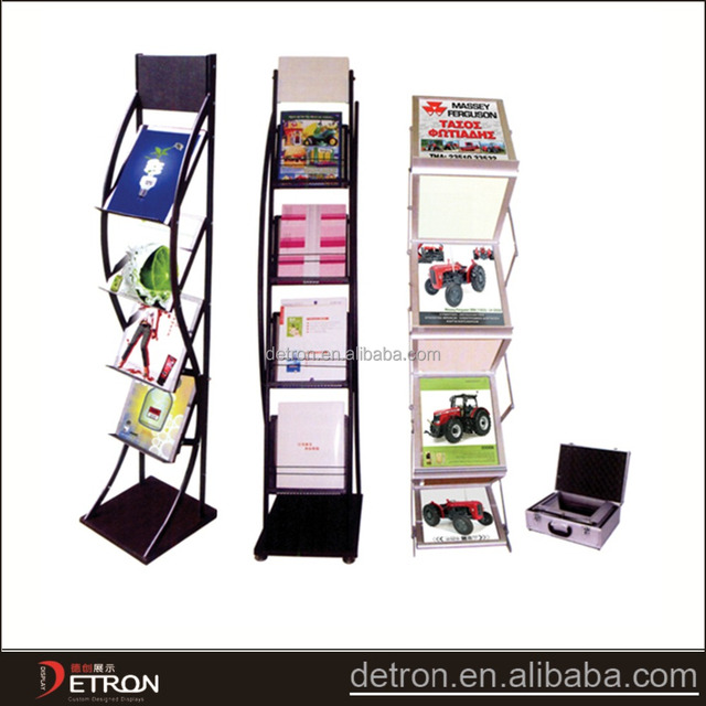 Brochure display rack metal magazine rack,newspaper display stand