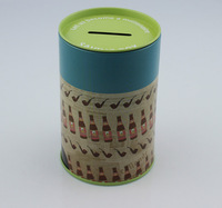 Money Saving Tin Box, Bank Tin, Storage piggy bank Tin Box