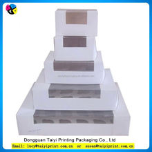 Top consumable products cupcake paper box with transparent window