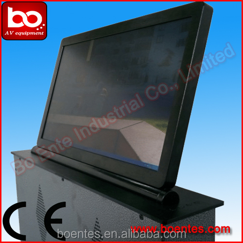 Desktop LCD Monitor Lift System with Controller and 15.6 Inch HD Screen for Conference Desktop Device