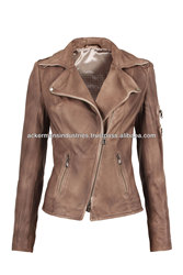Washed-Wax Biker Style Real Sheep leather jackets motorcycle