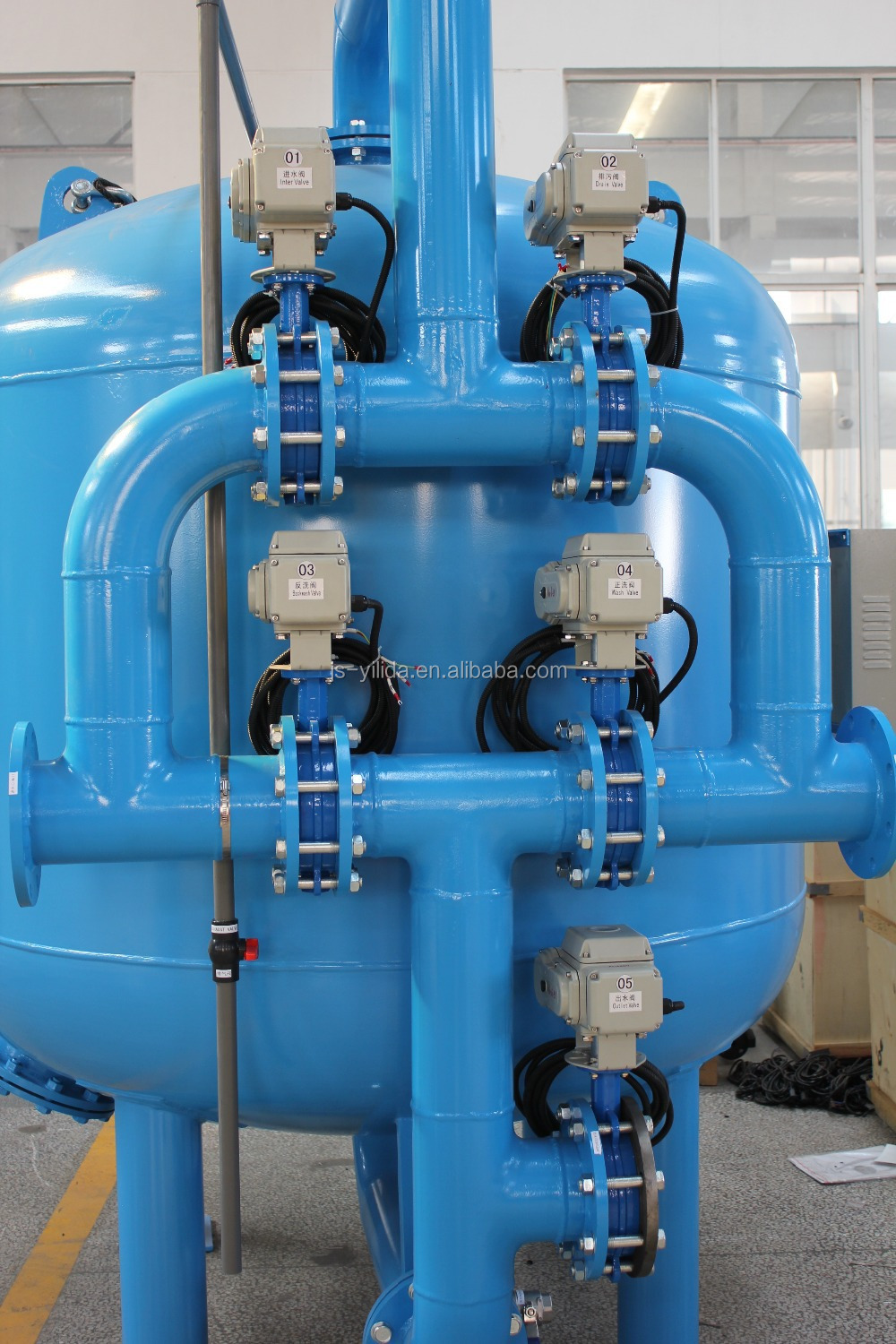 Quartz Sand Filter : Water pretreatment quartz sand filter machine with