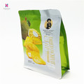flat bottom bag food packaging and printing bag with zipper for dried fruits