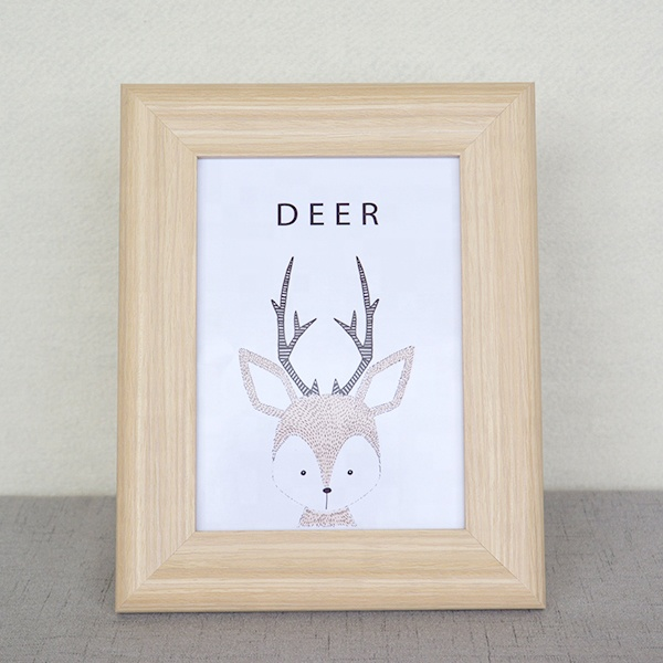 "4""x6"",5""x7"",6""x8"",8""<strong>x10</strong>"" cheap Small Picture Photo Frames/ Colored Deer Wood Picture Frames for christmas day"
