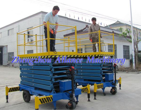153 motorized rotating platform hydraulic high lifting for Large motorized rotating platform