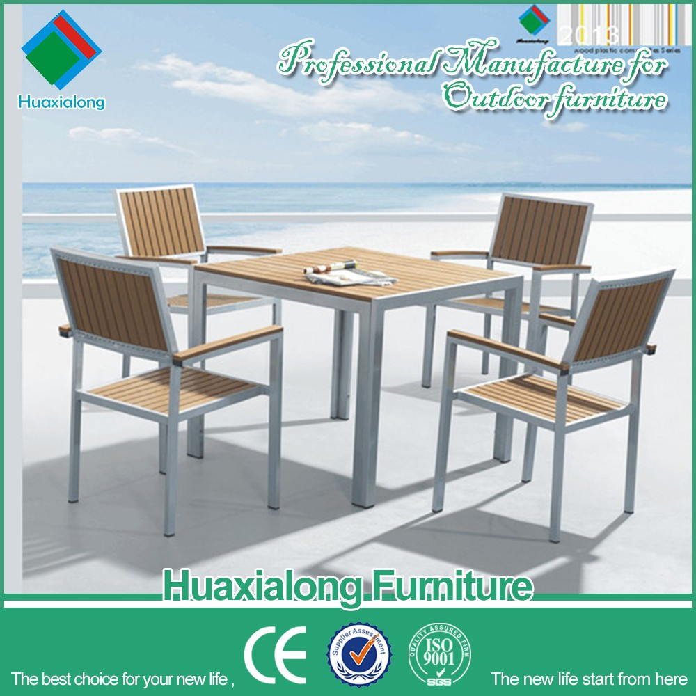 Outdoor furniture balcony dinning table and chair set restaurant dinning chair set vintage chair FSM-002-2