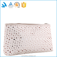 Low price ladies soft pu leather clutch cosmetic purse and wallet