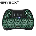 ENY mini wireless backlit keyboard 2.4g T2,Touchpad Handheld for Andriod TV box wireless mini keyboard
