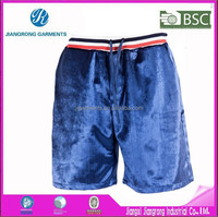 Produce as sample professional factory cheap short sport velvet pants for man