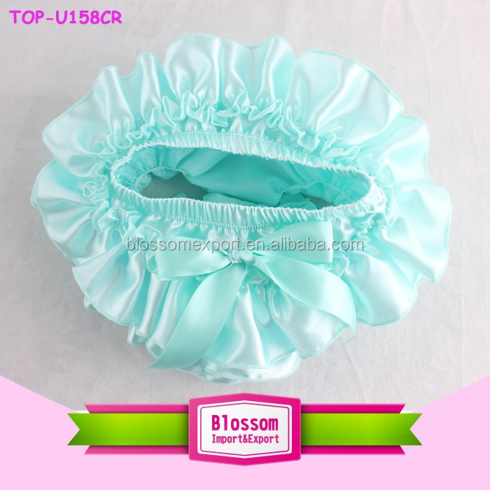 Hot Sale High Quality Competitive Price Washable satin mint Ruffle Diaper Cover Wholesale