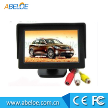 High Quality 4.3 Inch LCD TFT Car Foldable Rearview Monitor,4.3 inch flip down car monitor high definition car monitor