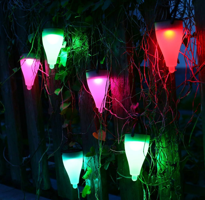 7 Color Changing Solar Light Outdoor 3 Lighting Modes Lawn Light for for Pathway
