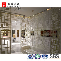 Laser Cut Metal Restaurant Partition Wall Decoration Panel