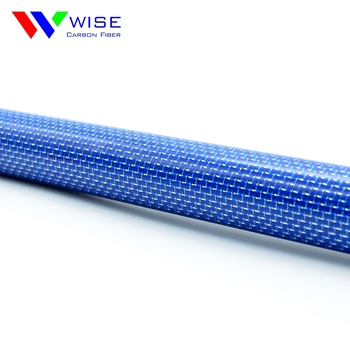 Carbon fiber pipe with blue orblack color etc