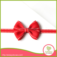 bow tie,gift ribbon,Red Stitching Ribbon Packing Bow