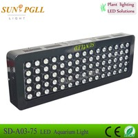 new design 75x3w dimmable uv led black light aquarium 3d aquarium background