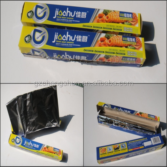 High quality Household Aluminum foil for BBQ use roll foil