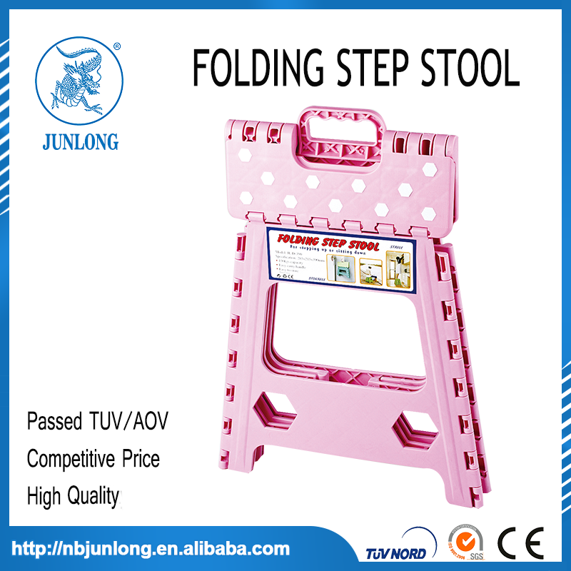 Pink and white 15 Inches Folding Step Stool