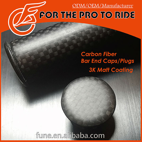 Full Carbon Bar Handlebar End Cpas Plugs (Pair) For Road / Racing Bike