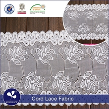 high quality nylon spandex 92/8 fancy lace and ribbon for suit