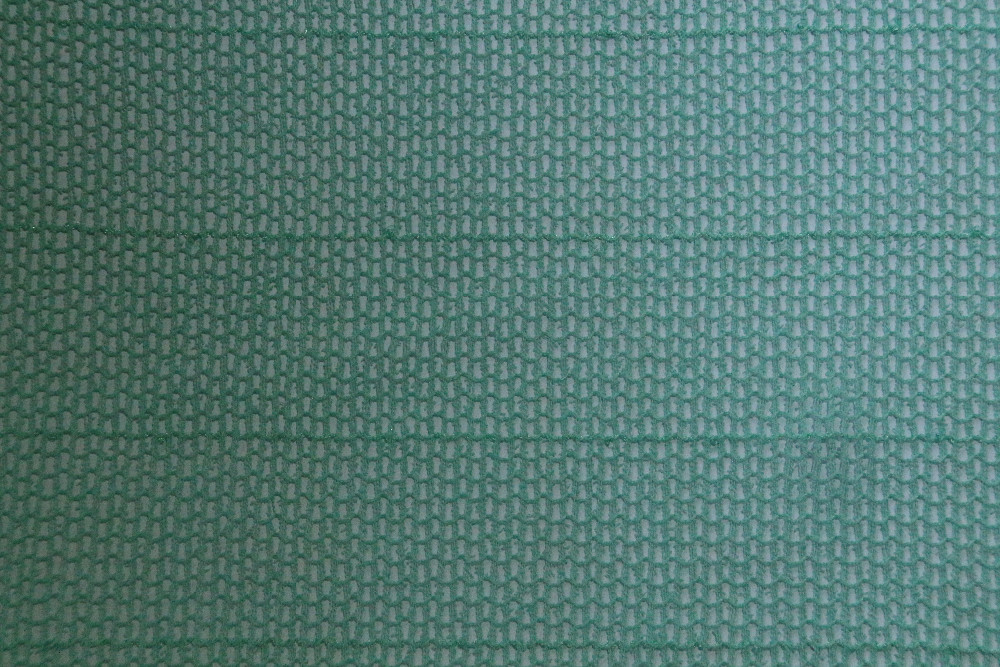 Green 100 Polyester Plain Nude Open Mesh Fabric
