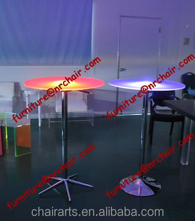 Shanghai commercial furniture wholesale nightclub acrylic led light bar cocktail table