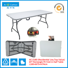 Top Value 6FT Plastic Folding Table, Multi-Utility Fold-in-Half Table