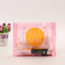 Free Samples 2017 Pink EVA Make Up Bag Cosmetic Bag With Button