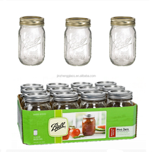 1 pint 16 oz. Ball Mason Jars w/ Silver Vacuum Seal Lid