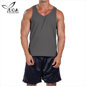 Manufacturer Wholesale Wicking DRi-FIT Black Jersey Mens Fitness Tank Top