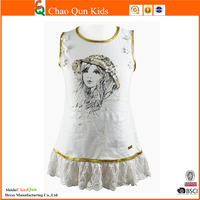 new model girl dress vintage lace ballet tutu dress with lace