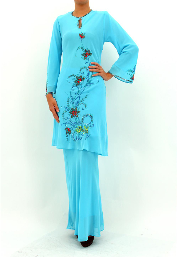 well made fabric polyester lycra crepe kurung lycra for baju kurung/special costume
