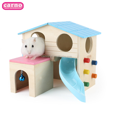 Carno hot sale small animal house wooden small animal cage for hamster pet houses
