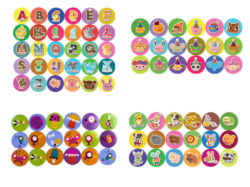 Fridge kids magnets 4mm
