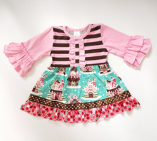 Christmas bulk wholesale kids clothing baby girl party dress children frocks designs